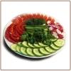 Нарезка свежих овощей